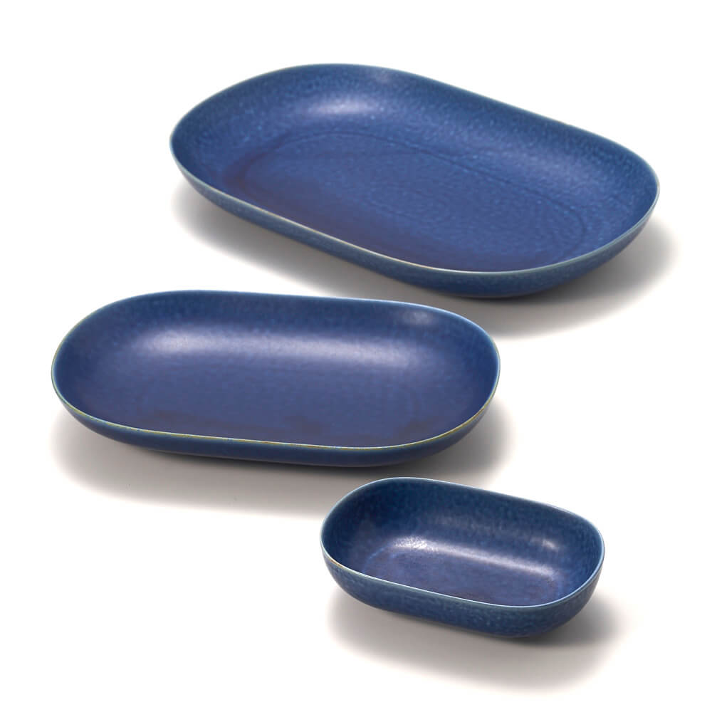 イイホシユミコ yumiko iihoshi porcelain/「ReIRABO リイラボ」oval plate オーバルプレート off shore blue(S・M・L)