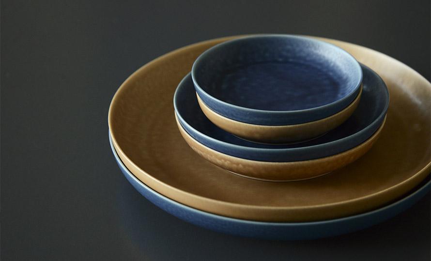 イイホシユミコ yumiko iihoshi porcelain/「ReIRABO リイラボ」round plate ラウンドプレート off shore blue(S・L・21.5cm)のイメージ画像
