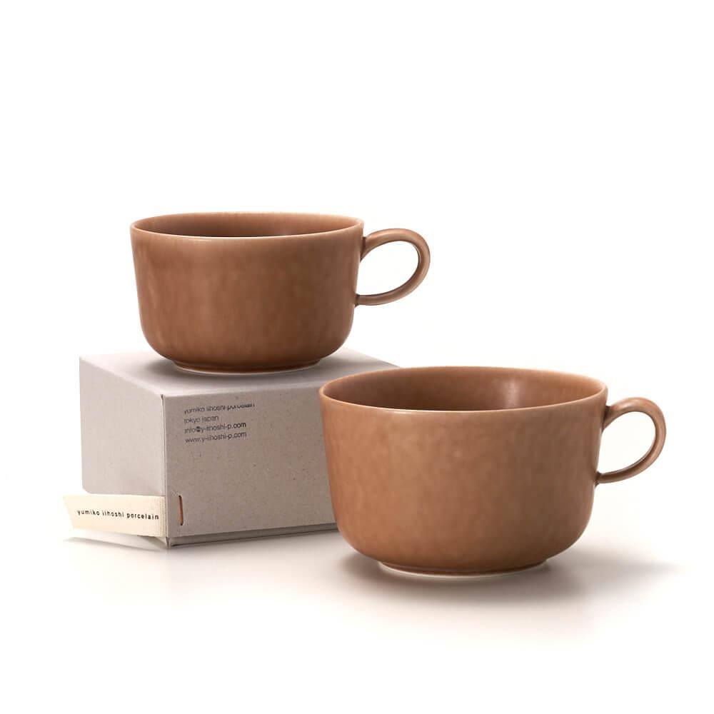 イイホシユミコ yumiko iihoshi porcelain/「ReIRABO リイラボ」cup カップ warm soil brown(M・L)