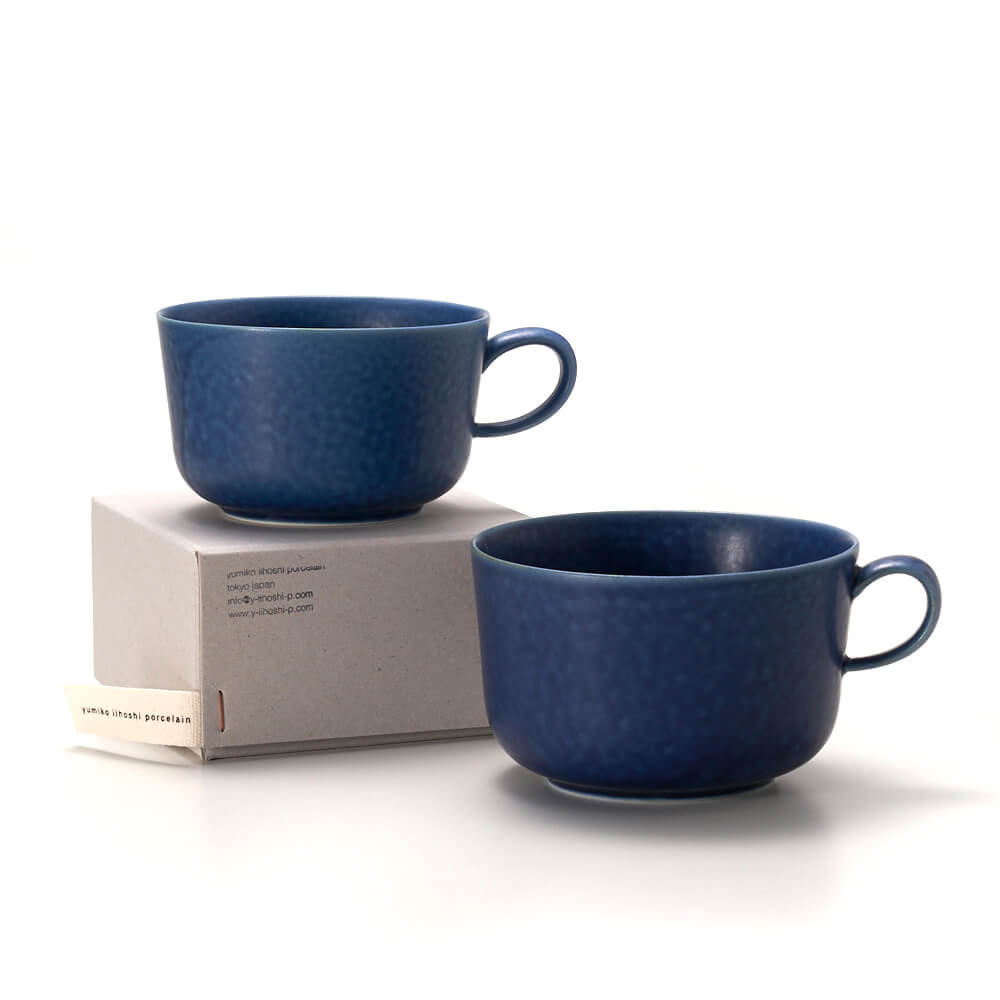 イイホシユミコ yumiko iihoshi porcelain/「ReIRABO リイラボ」cup カップ off shore blue(M・L)