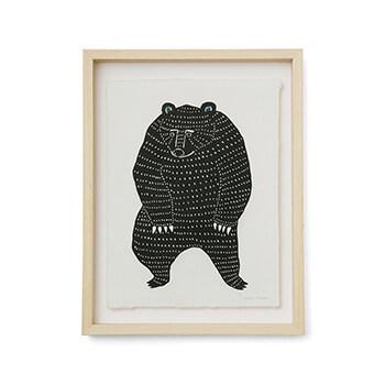 kata kata カタカタ/型染め和紙 踊るクマ