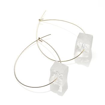 sorte glass jewelry ソルテグラスジュエリー/SGJ-016S ガラス フープピアス