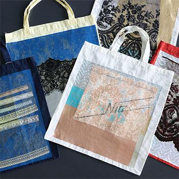 YUKI FUJISAWA / Foil tote + Lace (5種)