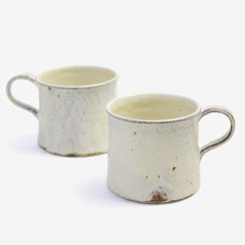 平野日奈子 ひらのひなこ/粉引 ラインスープカップ