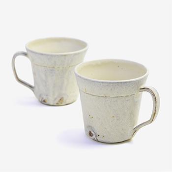 平野日奈子 ひらのひなこ/粉引 マグカップ