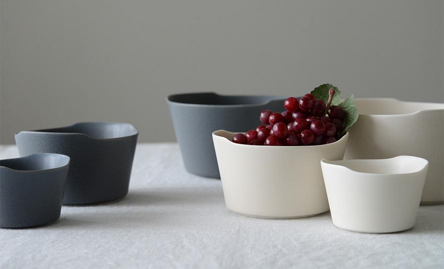 イイホシユミコ yumiko iihoshi porcelain/「unjour アンジュール」bowl ボウル rainy gray(3サイズ)のイメージ画像