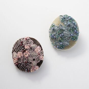 Veriteco ヴェリテコ/ビロードの紫陽花ブローチ(2種)