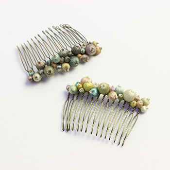 Veriteco ヴェリテコ/絹糸の宝石コーム(2種)