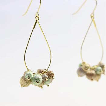 Veriteco ヴェリテコ/絹糸の宝石「雫」ピアス(3種)
