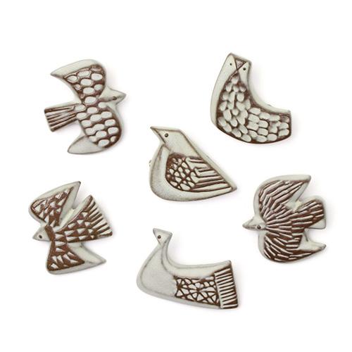 BIRDS'WORDS バーズワーズ/ブローチ「bird tile」(6種)
