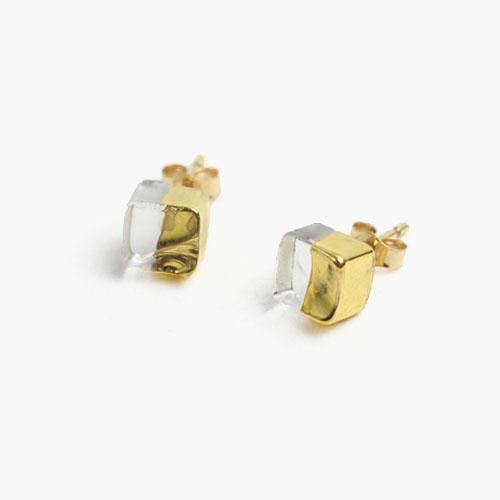 sorte glass jewelry ソルテグラスジュエリー/SGJ-003P ガラス ピアス(スクエア小)