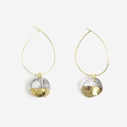 sorte glass jewelry ソルテグラスジュエリー/SGJ-011CI ガラス フープピアス(サークル)