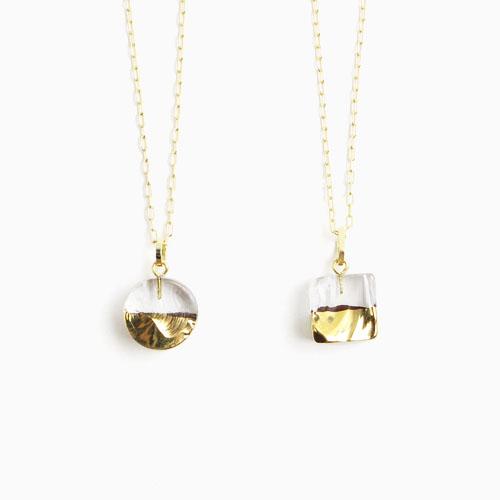 sorte glass jewelry ソルテグラスジュエリー/SGJ-021SQ・021CI ガラス ネックレス(スクエア・サークル)