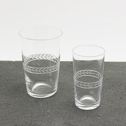 h collection+S/廣島晴弥×Spiral Market オリジナル カットグラス「ローレルクラウン」(スモールビア・ソーダ)
