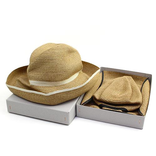 mature ha. マチュアーハ/ボックスハット「BOXED HAT 101SW」11cm brim switch color line(2色)【送料無料】