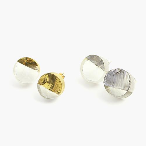 sorte glass jewelry ソルテグラスジュエリー/SGJ-101G・101S ガラスピアス(ゴールド・シルバー)