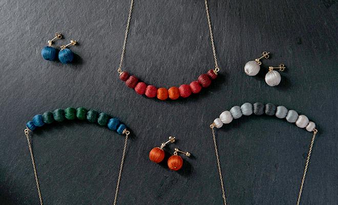 ciito シイト/ネックレス「tsuranari necklace」(3色)/ネックレス「tsuranari necklace」(3色)が並んだイメージ画像