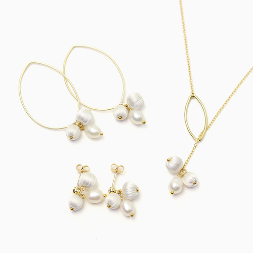 ciito シイト/mitsubuシリーズ「mitsubu pierce・necklace」(3種)