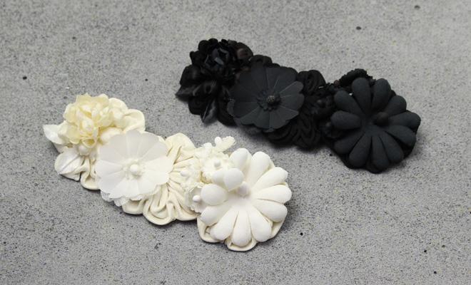 la fleur+S ラ・フルール/riviere リヴィエール「rose」バラのコサージュ(2色)/riviere リヴィエール「rose」バラのコサージュ(2色)が並んだイメージ画像