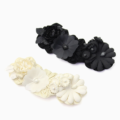 la fleur+S ラ・フルール/riviere リヴィエール「rose」ローズのコサージュ(2色)