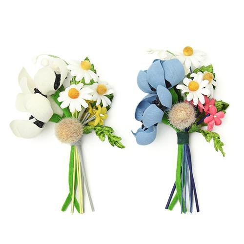la fleur+S ラ・フルール/riviere リヴィエール「bouquet」ブーケのコサージュ(2色)