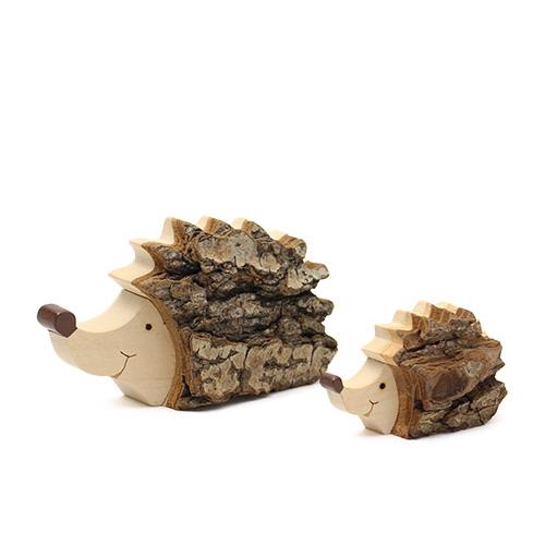Waldfabrik ヴァルトファブリック/木製オーナメント ハリネズミ(2サイズ)