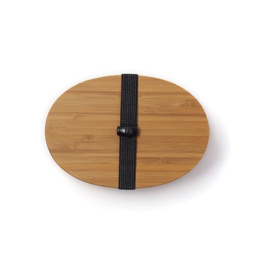 公長齋小菅 こうちょうさいこすが/竹製 一段重小判形弁当箱 黒
