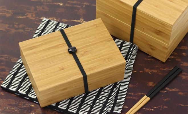 公長齋小菅 一段弁当箱と二段弁当箱が置かれた画像