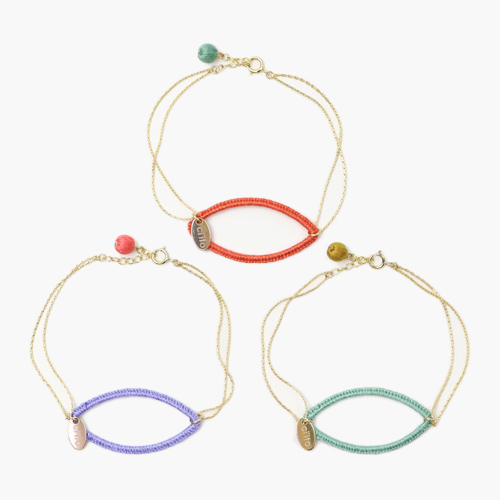 ciito シイト/ブレスレット「fuchidori bracelet」(3色)