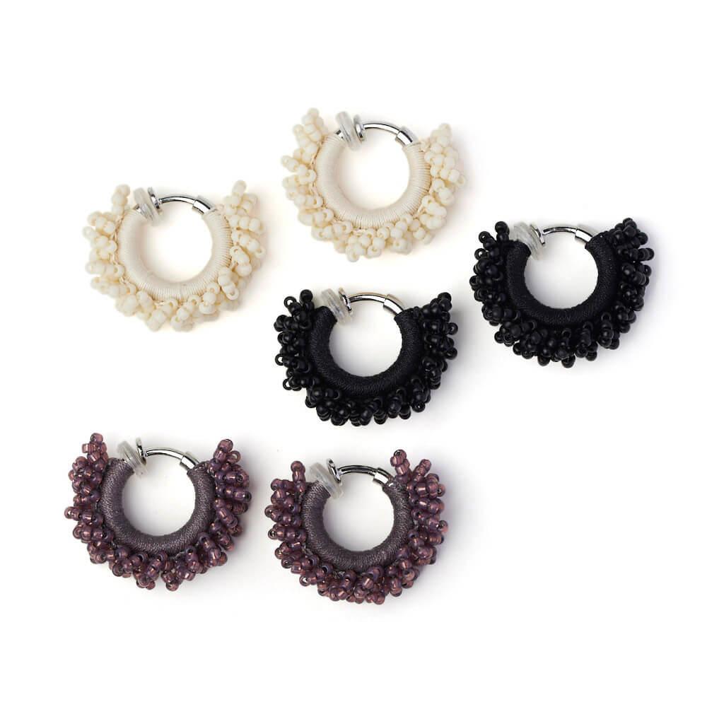 hariknitting ハリニッティング/circle earring S サークルイヤリング S(3色)