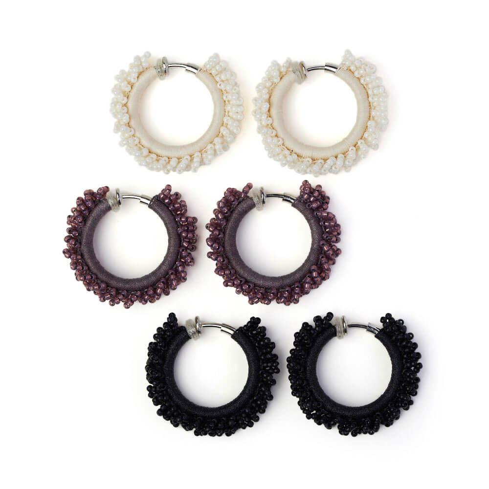 hariknitting ハリニッティング/circle earring M サークルイヤリング M(3色)