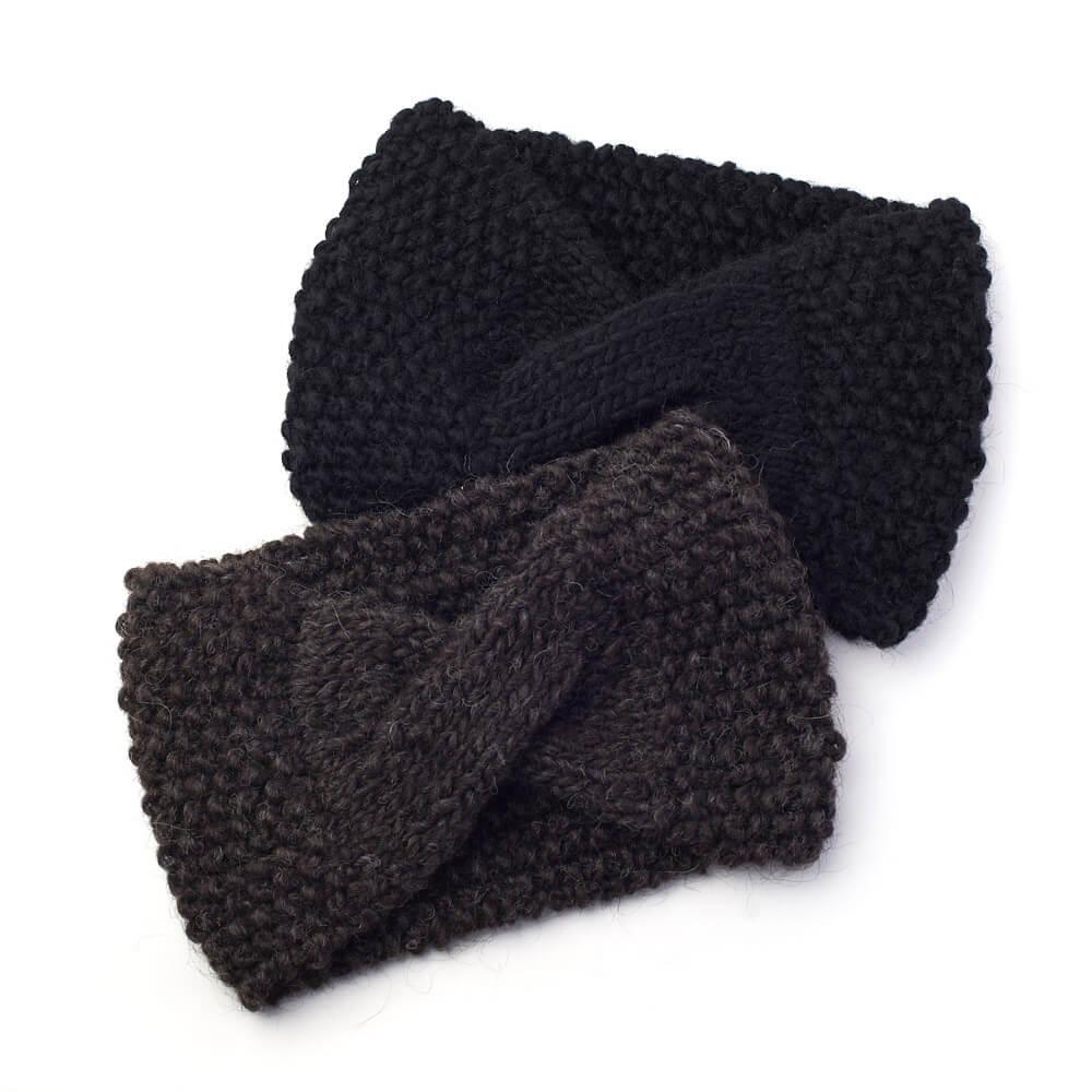 hariknitting ハリニッティング/hairband cross type ヘアバンド クロスタイプ(2色)