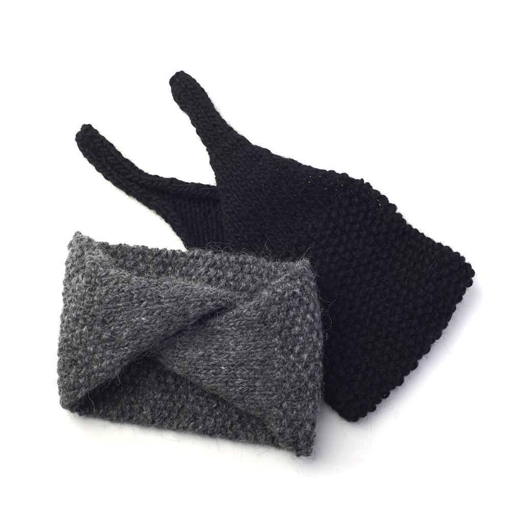 hariknitting ハリニッティング/hairband knot type ヘアバンド ノットタイプ (2色)