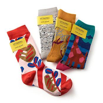 OTTAIPNU×socks appeal/靴下 男女兼用ソックス A(フリーサイズ 10種)