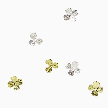 Pfutze プフッツェ/clovers pierced earring クローバー ピアス(シングル 5種)