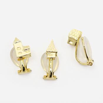 archi earring イヤリング 家 ゴールド(シングル3種)