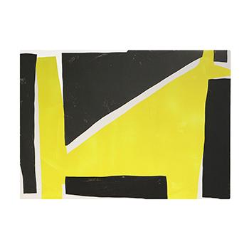 OTTAIPNU オッタイピイヌ/アートパネル「yellow×dark gray」