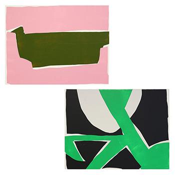 OTTAIPNU オッタイピイヌ/アートパネル「olive×pink」「green×dark gyay」