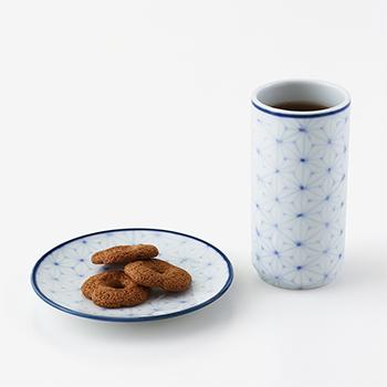 Shizuka Tatsuno 辰野しずか/mg&gk porcelain for boro cookie&hōjicha ぼうろとほうじ茶の器 セット(4種)