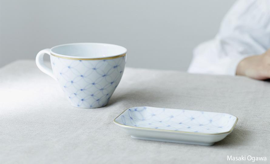 Shizuka Tatsuno 辰野しずか/mg&gk – porcelain for financier & tea フィナンシェと紅茶の器(4種)のイメージ画像