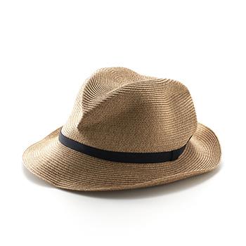mature ha. マチュアーハ/ボックスハット「BOXED HAT 105」6.5cm brim grosgrain ribbon【送料無料】