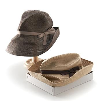 mature ha. マチュアーハ/ボックスハット「BOXED HAT 101」11cm brim grosgrain ribbon(2色)【送料無料】