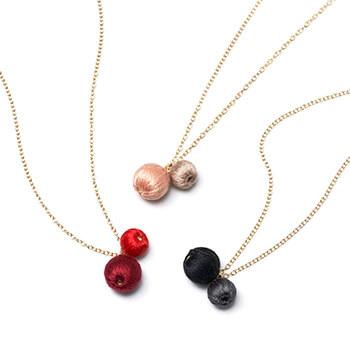 ciito シイト/ネックレス「futatsubu necklace」(3色)