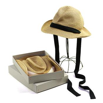 mature ha. マチュアーハ/ボックスハット「MBOX-106GA」BOXED HAT 7cm brim garden ribbon(2色)【送料無料】
