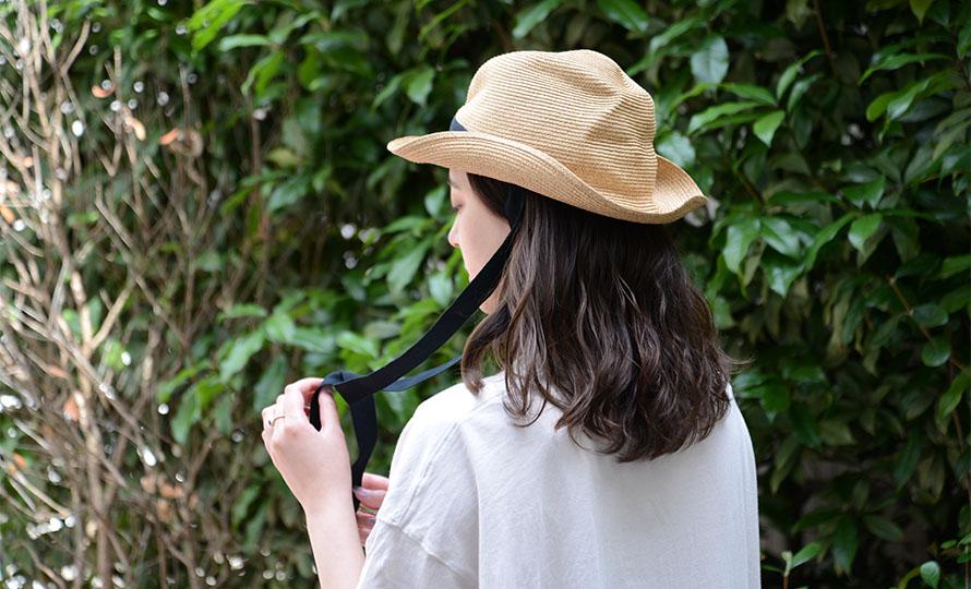 mature ha. マチュアーハ/ボックスハット「MBOX-106GA」BOXED HAT 7cm brim garden ribbon(2色)【送料無料】のイメージ画像