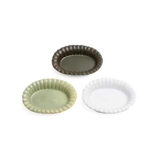 木村香菜子 きむらかなこ/フチ飾り楕円皿 S(3色)