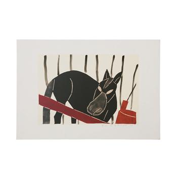 柚木沙弥郎Samiro Yunoki/型染画シリーズ「東北の馬」
