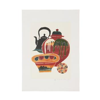 柚木沙弥郎Samiro Yunoki/型染画シリーズ「民藝の品々」