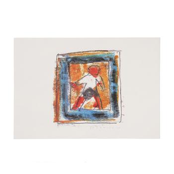 柚木沙弥郎 Samiro Yunoki/宮澤賢治遠景「雨はざっこざっこ雨三郎、風はどっこどっこ又三郎」