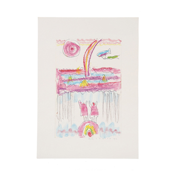 柚木沙弥郎 Samiro Yunoki/宮澤賢治遠景「イーハトーヴに雨を降らす」